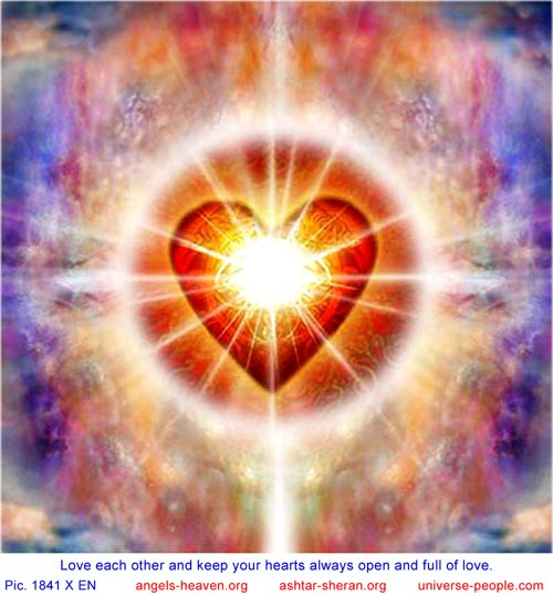 Love each other and keep your hearts always open and full of love