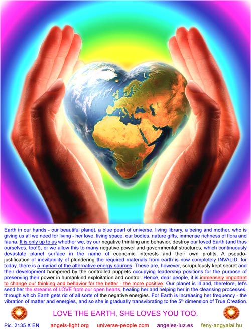 Love the Earth, she loves you too!