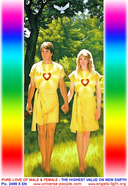 Pure love between male and female - the highest value on the New Earth