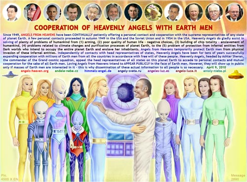 Cooperation of the Heavenly Angels with Earth men