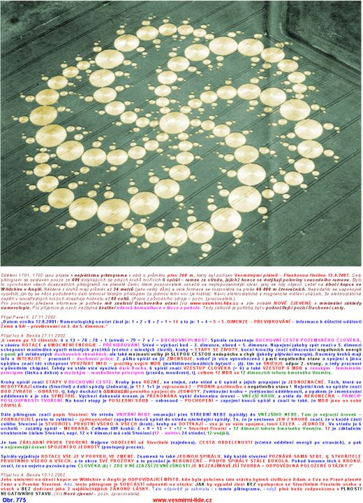The biggest crop circle commented by the space friends